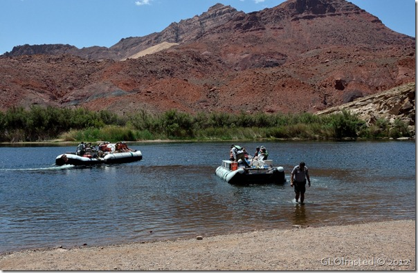 02e launching NPS boats from Lee's Ferry AZ