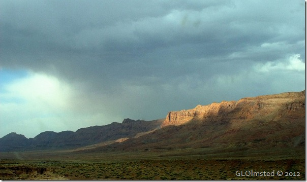 04e Sun on Echo Cliffs under stormy sky SR89A N AZ (1024x606)