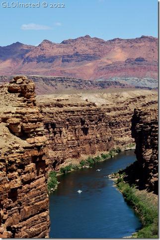 05e NPS boats on CO R in Marble Canyon from Navajo Bridge AZ