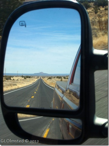 07 Side mirror view of Red Butte US180 S Kaibab NF AZ