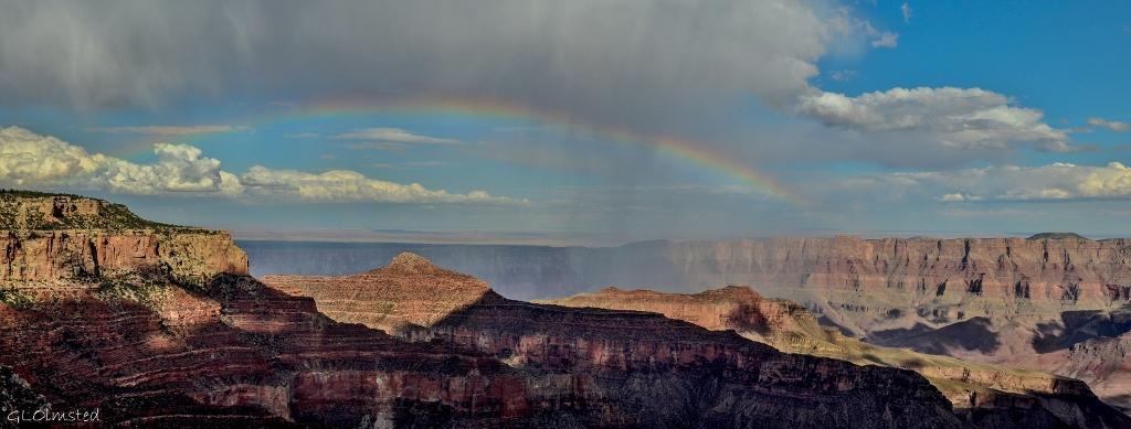 Rainbow over canyon Walhalla Plateau NR GRCA NP AZ