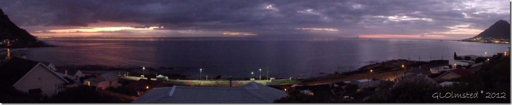 Sunrise view across False Bay from Moonglow B&B Glen Cairn Cape Peninsula South Africa