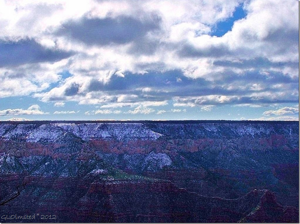 01 Snow above Roaring Springs & Bright Angel Canyons from Bright Angel Point trail NR GRCA NP AZ (1024x768)
