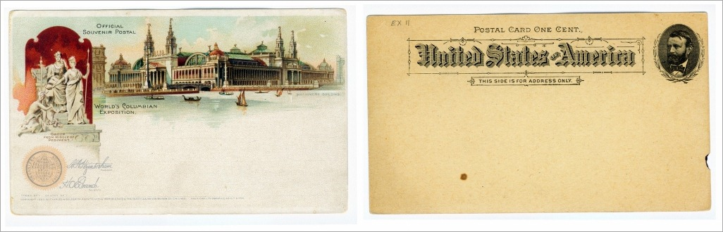 1893 postcard front and back