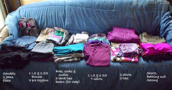 Clothes to pack