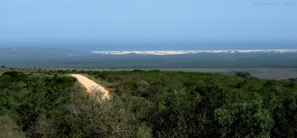 Indian Ocean view from drive through Addo Elephant NP Eastern Cape South Africa