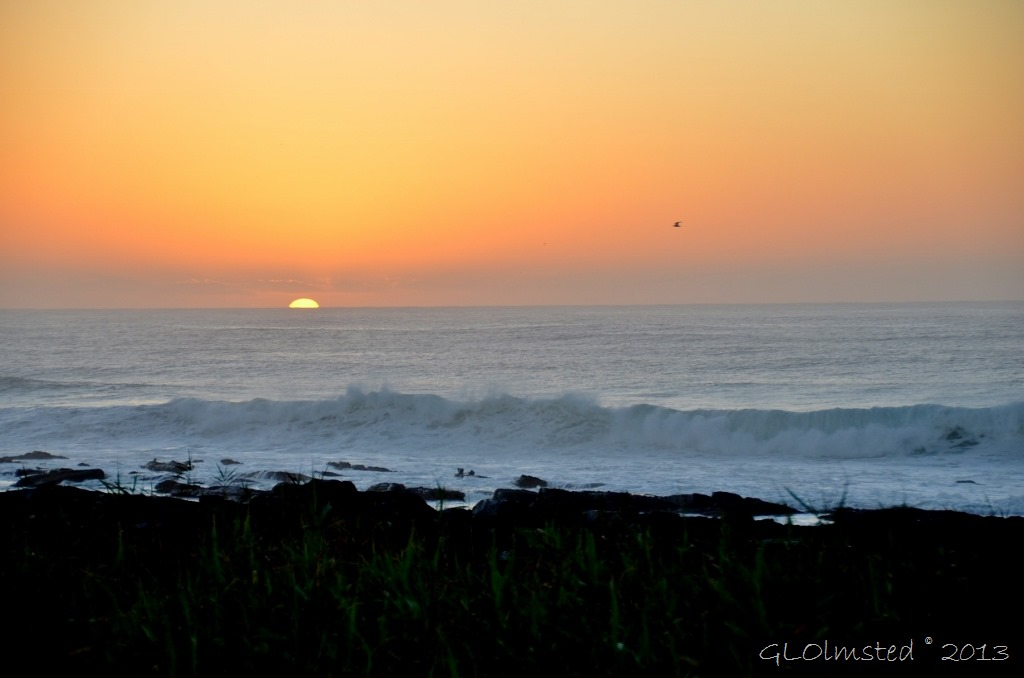Sunrise over Indian Ocean Kidds Beach SA