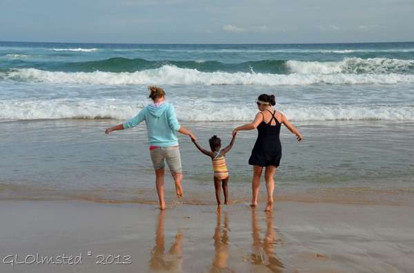 Playing in the waves at Tsitsikamma NP Nature's Valley SA