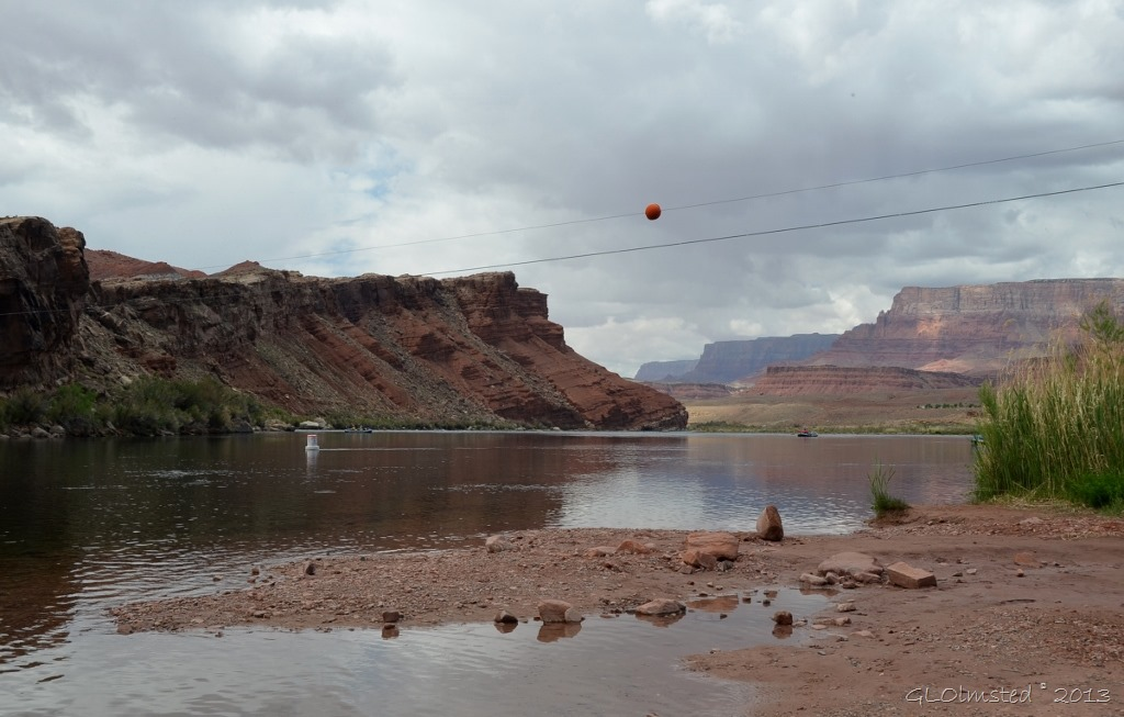 Lee's Ferry boat launch area along Colorado River Marble Canyon AZ