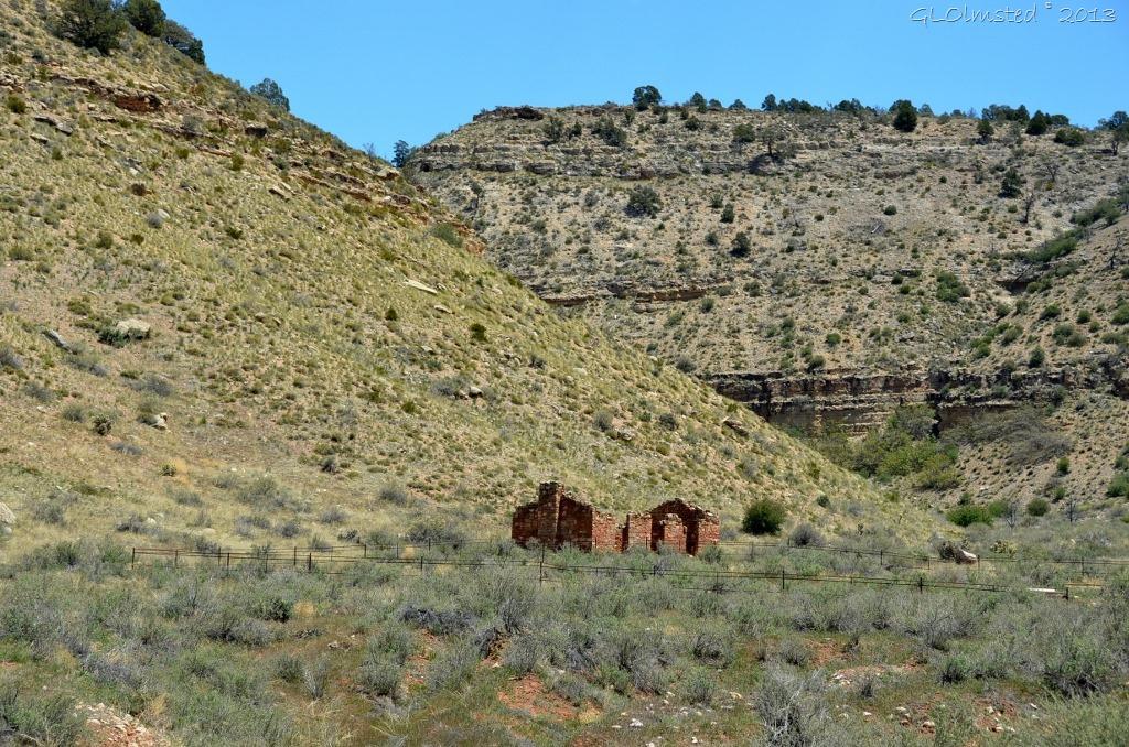 Old ranch ruin Snake Gulch Kaibab NF AZ