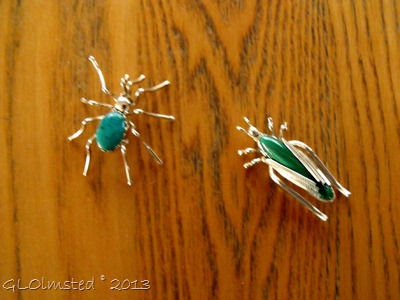 Sterling Silver & stone bug jewelry
