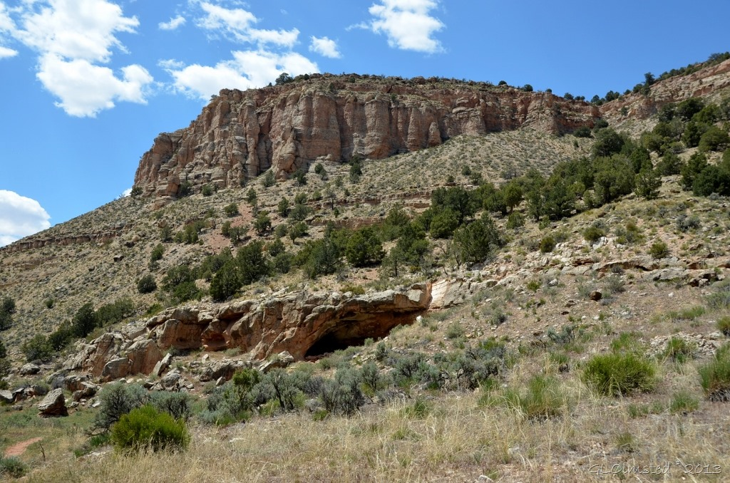 Rock shelter along Snake Gulch trail Kanab Creek Wilderness Kaibab NF AZ