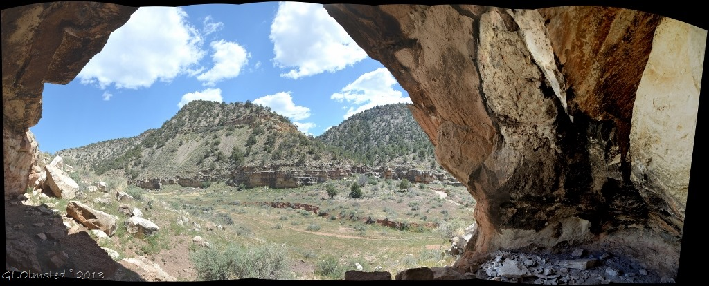 View from rock shelter Snake Gulch Kanab Creek Wilderness Kaibab NF AZ