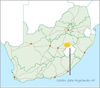 South Africa map where is Golden Gate Highlands National Park