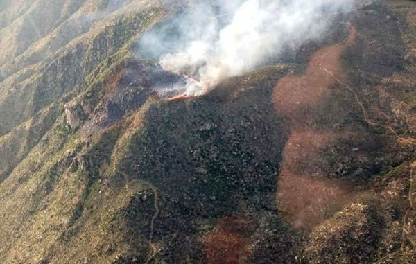 Yarnell Hill Fire from inciweb Photo from AZ State Air Attack plane on 062913