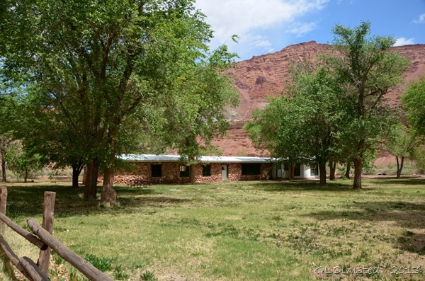 Original stone ranch house at Lonely Dell Ranch Lees Ferry Glen Canyon National Recreation Area Arizona