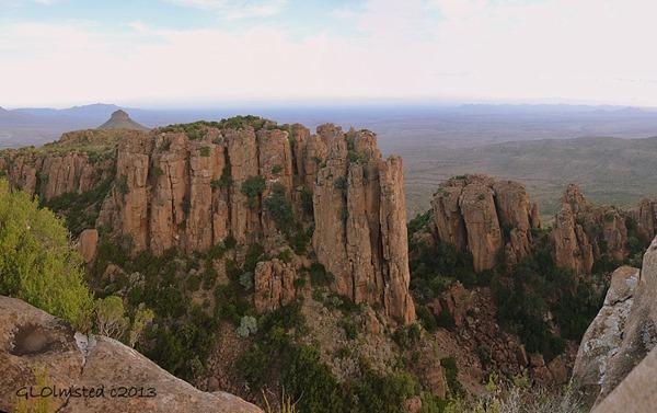 Dolerite cliffs above Valley of Desolation Camdeboo National Park Eastern Cape Graaff-Reinet South Africa