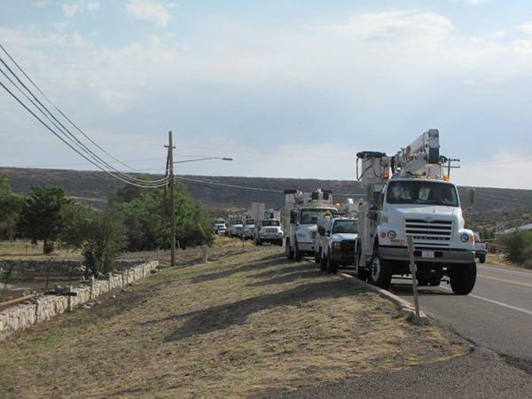 APS trucks Photo taken by a Fire Information Officer on July 3, 2013