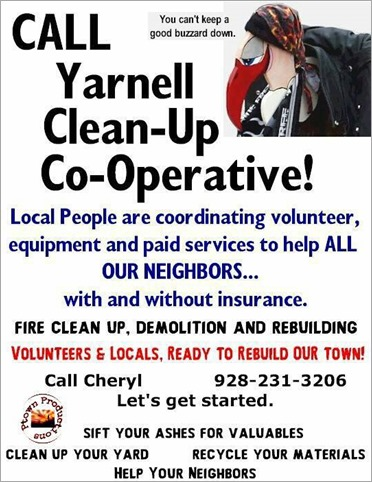 Cleanup call sign for Yarnell