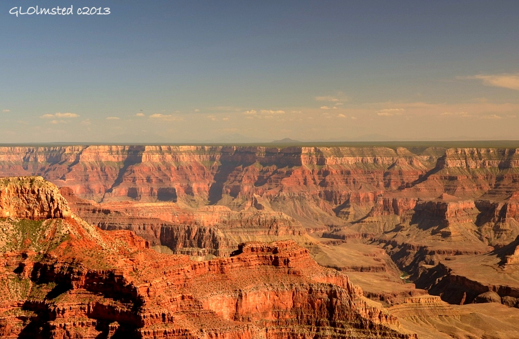 Colorado River view SE from Point Sublime North Rim Grand Canyon National Park Arizona
