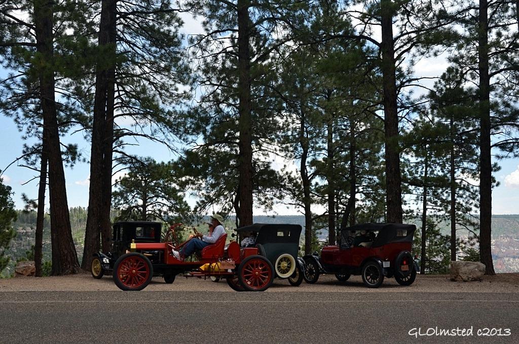 Classic cars at North Rim Grand Canyon National Park Arizona