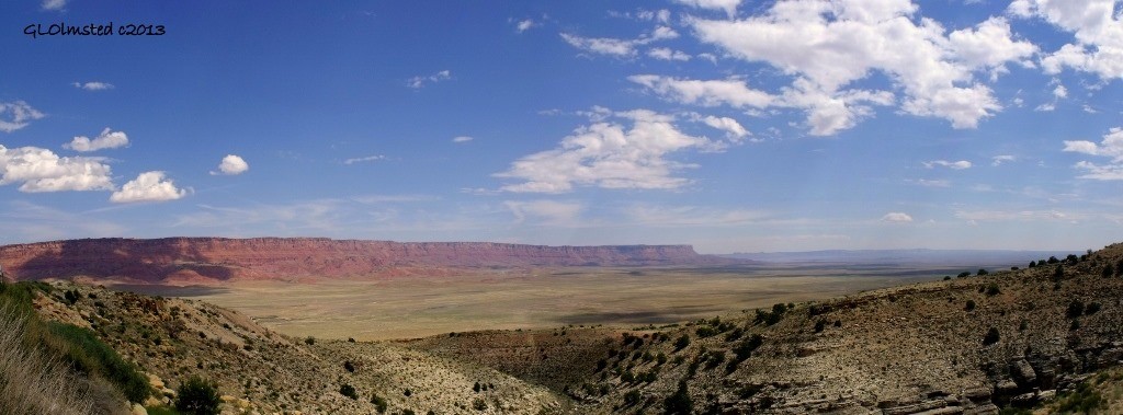 Vermilion Cliffs & House Rock Valley from overlook SR89A East Kaibab National Forest Arizona