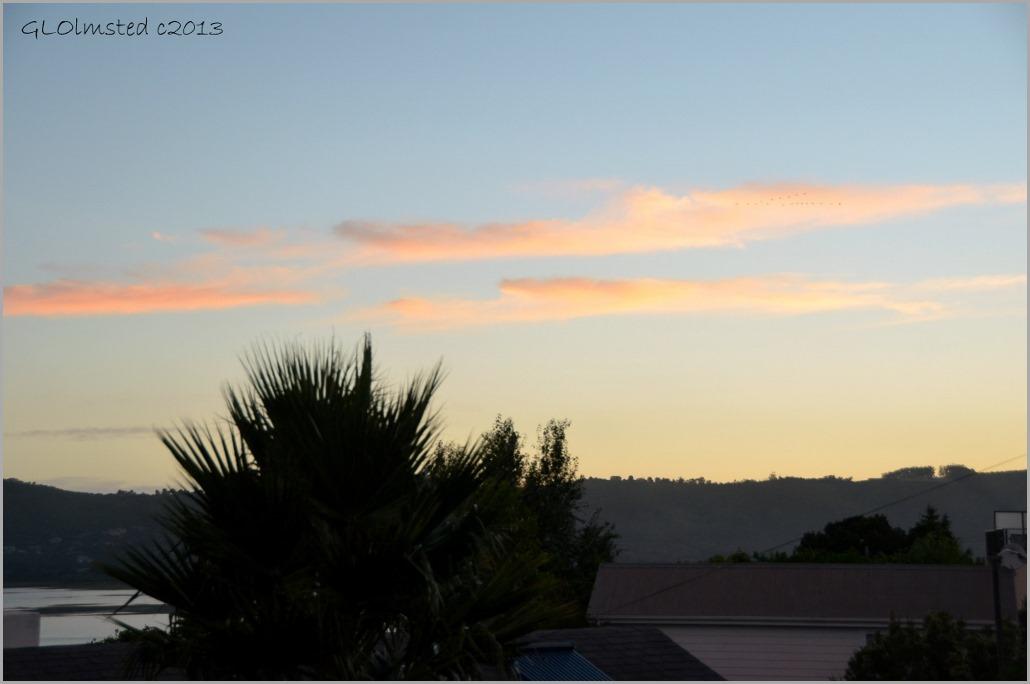 Sunset over Knysna Lagoon from Guinea Fowl Lodge Knysna South Africa