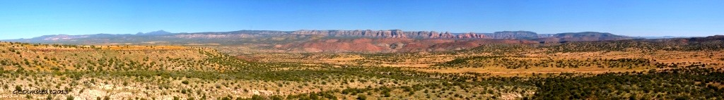 View from Perkinsville Road Arizona