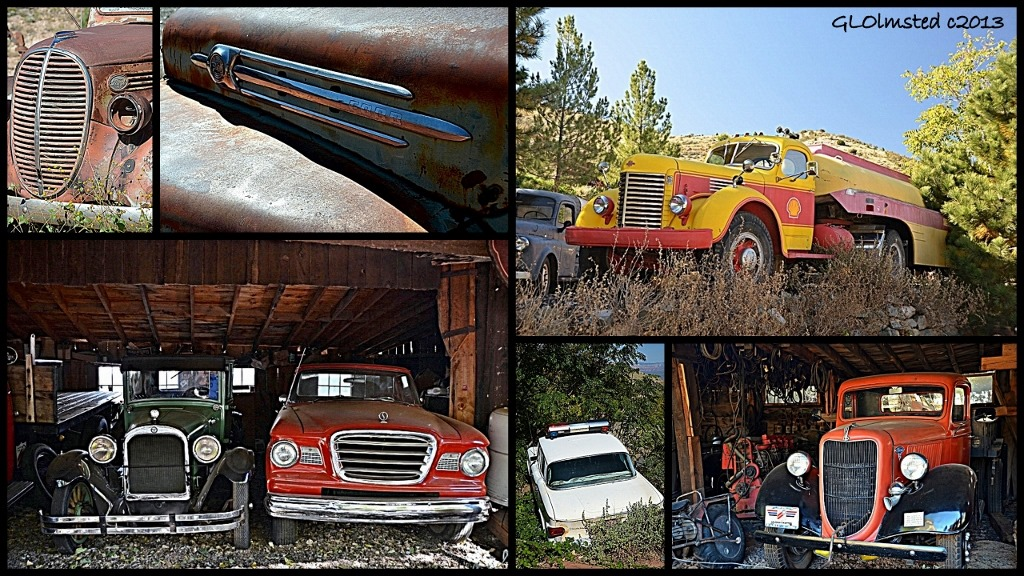 Old cars & trucks at Gold King Mine Ghost Town Jerome Arizona