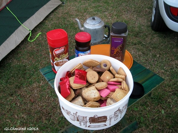 Breakfast of coffee & rusks at Pilgrim Rest camp Mpumalanga South Africa