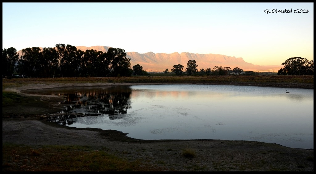 The dam at Rodene Farm Ceres South Africa