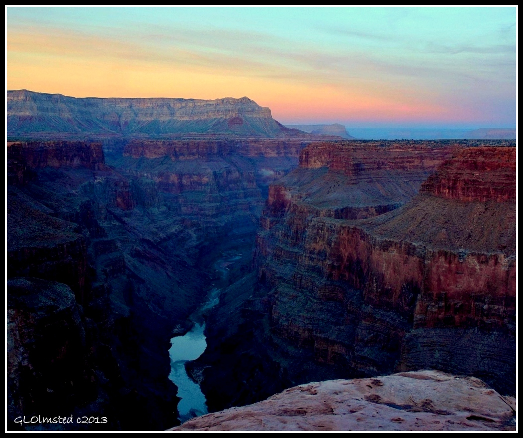 Sunset Toroweap Grand Canyon National Park Arizona