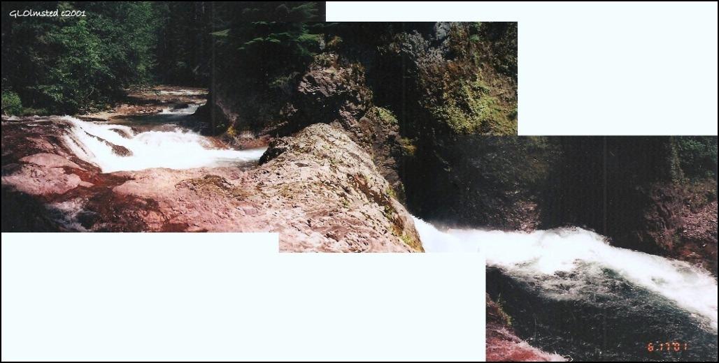 Straight & Quartz Creeks waterfall Gifford Pinchot National Forest Washington