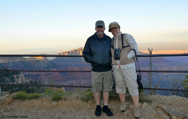 Gus & Kathie Brown Point Imperial North Rim Grand Canyon National Park Arizona