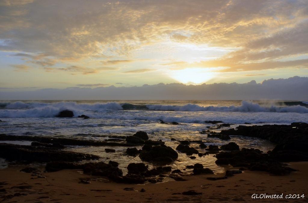 Sunrise from Scottburg Caravan Park Scottburg South Africa
