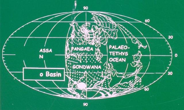 Pangaea Gondwana map