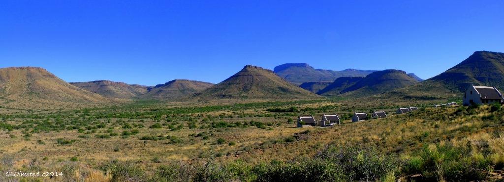 Escarpment valley view Karoo National Park South Africa