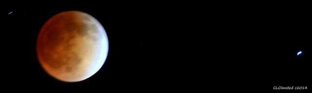 Lunar eclipse & star Spica Yarnell Arizona