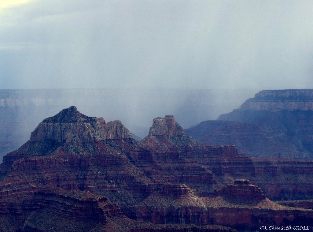 Canyon view from lunch at the lodge North Rim Grand Canyon National Park Arizona