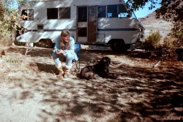 Carson & Gaelyn camping Yakima River Washington