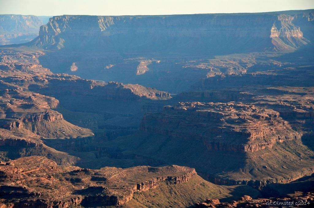 Shadow over Colorado River canyon from Jumpup Point Grand Canyon Arizona