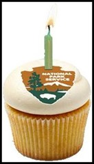 National Park Service cupcake birthday logo