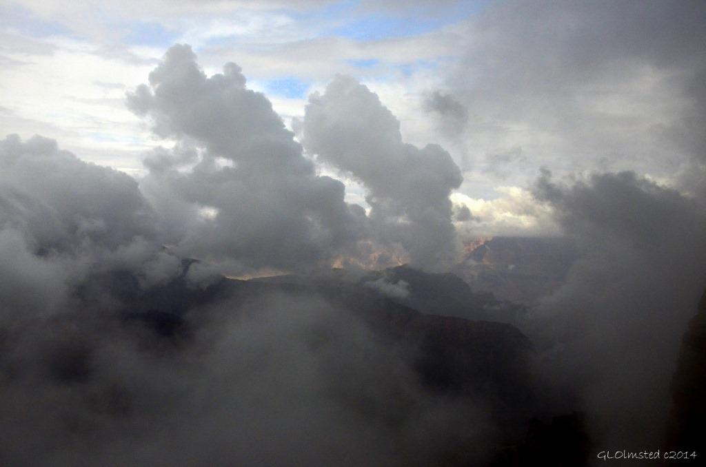 Cloudy canyon view Walhalla Plateau North Rim Grand Canyon National Park Arizona