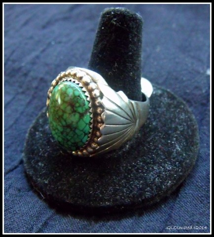 Spiderweb turquoise & Sterling Silver ring