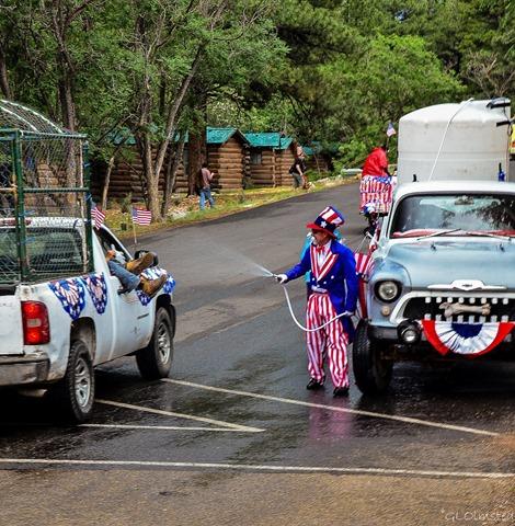 Uncle Sam 4th of July parade North Rim Grand Canyon National Park Arizona