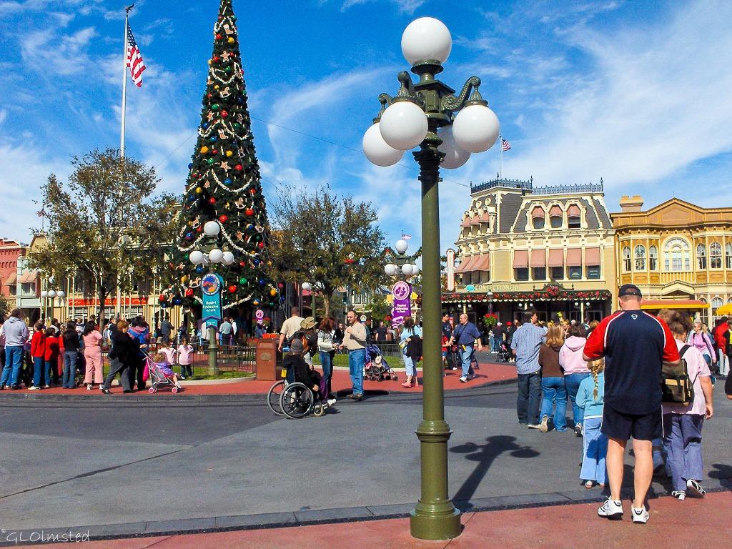Christmas tree on Main Street Disney World Orlando Florida