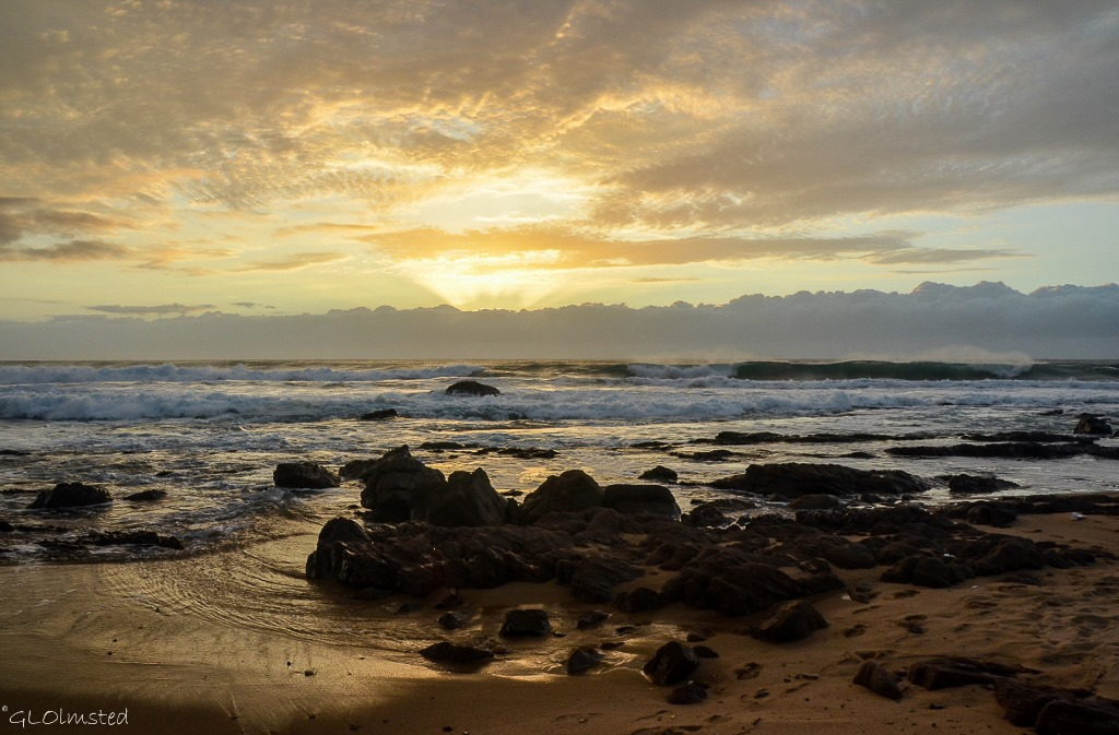 Sunrise over Indian Ocean Scottburgh Caravan Park Scottburgh South Africa