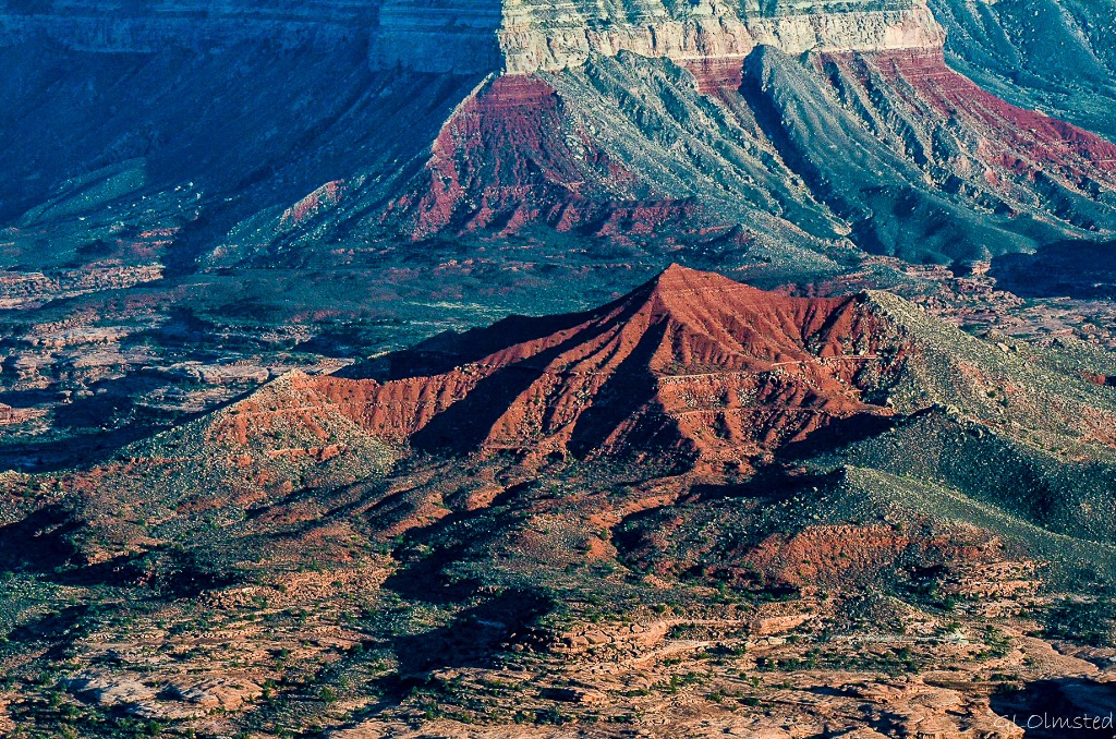 Race Track Knoll in Grand Canyon from Jumpup Point Kaibab National Forest Arizona