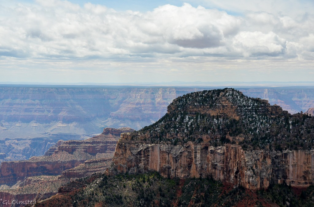 Oza Butte with snow North Rim Grand Canyon National Park Arizona