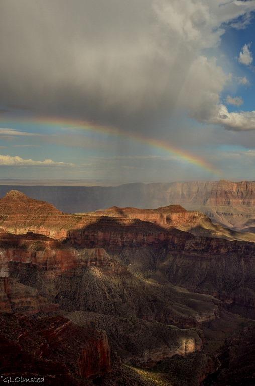 Rainbow over canyon North Rim Grand Canyon National Park Arizona
